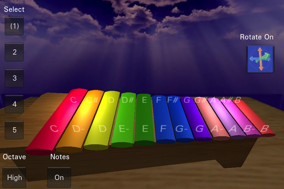 Screenshot 3d Xylophone