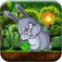 Bunny Jungle Jump & Fire Throw - Jumping Rabbit & Flying Burning Ball FREE FUN
